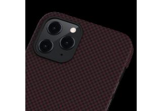 "Чехол Pitaka MagEz Case для iPhone 12 Pro Max 6.7"" (Black/Red Plain)"