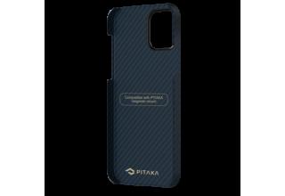 "Чехол Pitaka MagEz Case для iPhone 12 Pro Max 6.7"" (Black/Blue Twill)"