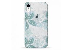 Чехол Pump Transparency Case for iPhone XR Blue Flowers