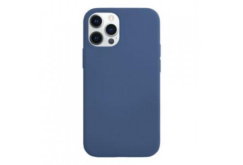 Чехол защитный «vlp» Silicone Сase для iPhone 12 ProMax, темно-синий