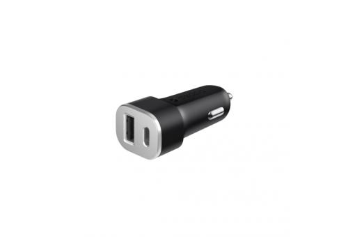 АЗУ Deppa USB Type-C и USB-A, QC 3.0, Power Delivery, 18Вт, чёрный