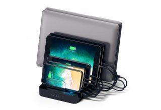 Зарядная док-станция Satechi 7-Port USB Charging Station Dock для мобильных устройств, черная