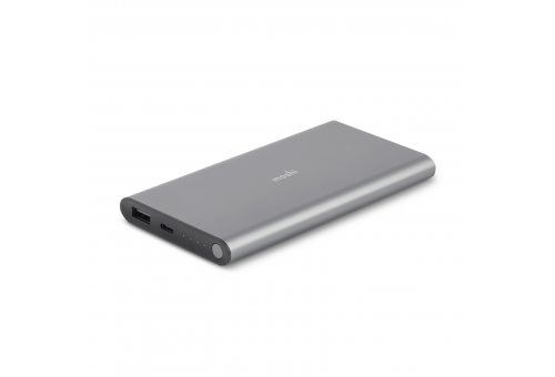 Внешний аккумулятор Moshi IonSlim 10K, 10000 мАч, (USB-A и USB-C), серый