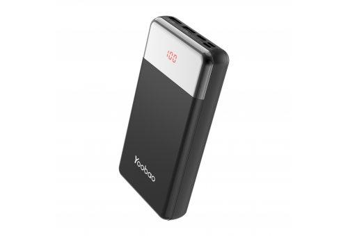 Внешний аккумулятор YOOBAO Power Bank P20W, 20000 мАч, черный