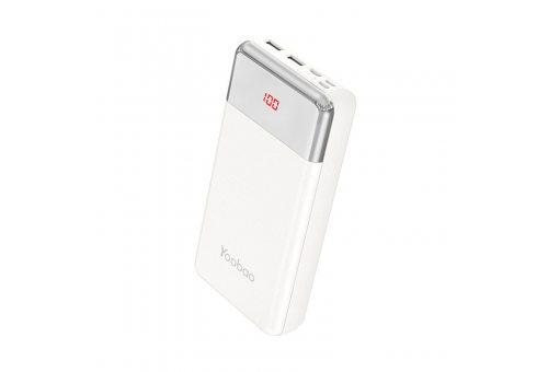 Внешний аккумулятор YOOBAO Power Bank P20W, 20000 мАч, белый