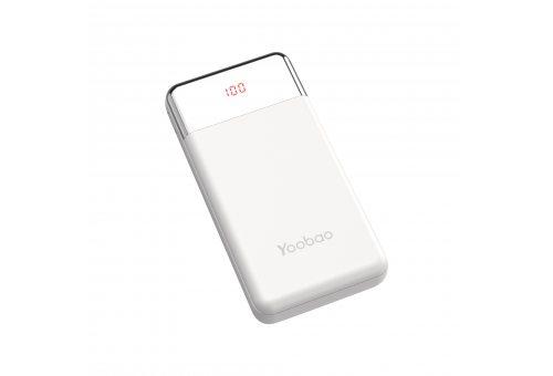 Внешний аккумулятор YOOBAO Power Bank PD 30W, 30000 мАч, белый