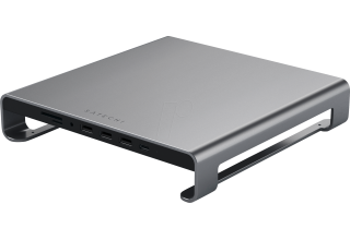 Подставка-док станция Satechi Type-C Aluminum iMac Stand with Built-in USB-C Data. Цвет серый космос