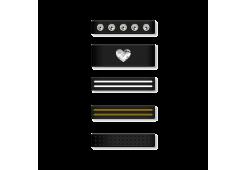 Набор петелек Bling My Thing Allure Loops для Apple Watch 38/40 мм и 42/44 мм, цвет черный