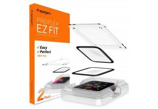 Защитное стекло Spigen ProFlex EZ Fit для Apple Watch series SE/6/4/5 44mm (Black) Spigen AFL01220 AFL01220