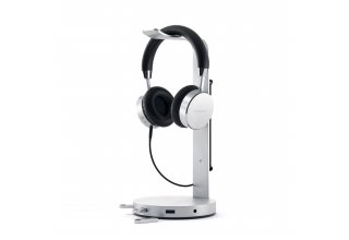 Aluminum Headphone Stand Hub - Silver