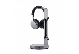 Aluminum Headphone Stand Hub - Space Gray