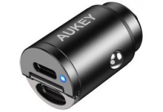 Автомобильное зу Aukey CC-A4 Dual USB-C 30W