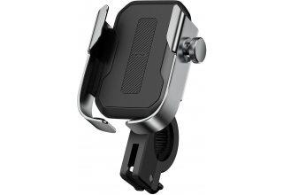 Baseus держатель на руль мото/вело Armor Motorcycle holder Silver