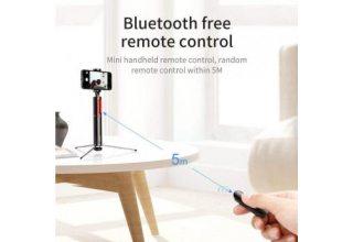 Baseus монопод-штатив с пультом Bluetooth Fully Folding Selfie Stick Black/sliver