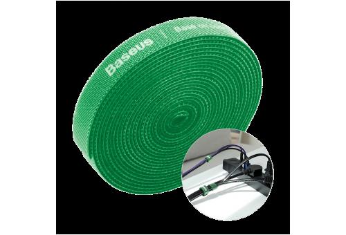 Baseus органайзер проводов Colourful Circle Velcro strap 3m Green