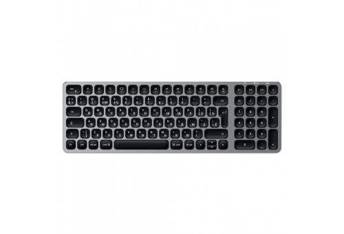 Беспроводная клавиаутра Satechi Compact Backlit Bluetooth Keyboard, серый