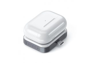 Беспроводная зарядка Satechi USB-C Wireless Charging Dock для AirPods. Цвет Белый