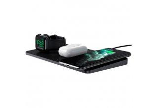 Беспроводное зарядное устройство Satechi Trio Wireless Charging Pad. Цвет серый космос.