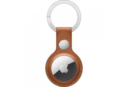 Кожаный брелок для AirTag с кольцом для ключей, цвет Золотисто-коричневый Apple MX4M2ZM/A MX4M2ZM/A
