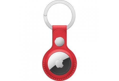 Кожаный брелок для AirTag с кольцом для ключей, цвет Красный  (PRODUCT)RED Apple MK103ZM/A MK103ZM/A