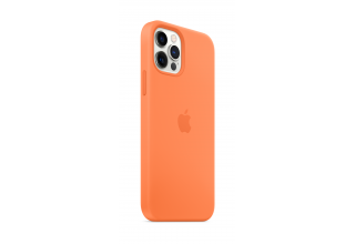 Чехол Apple iPhone 12 Pro Max Silicone Case with MagSafe - Kumquat