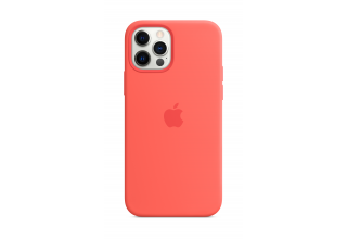 Чехол Apple iPhone 12 Pro Max Silicone Case with MagSafe - Pink Citrus