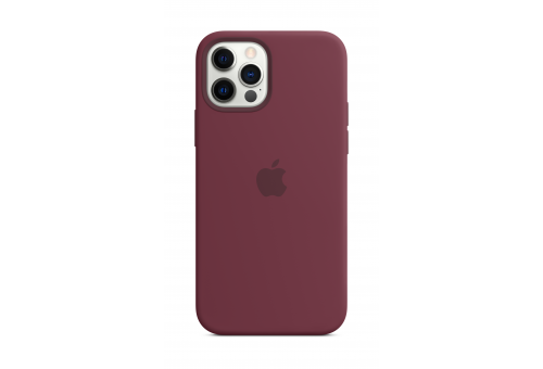 Чехол Apple iPhone 12 Pro Max Silicone Case with MagSafe - Plum