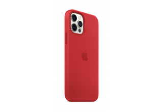Чехол Apple iPhone 12 Pro Max Silicone Case with MagSafe - (PRODUCT)RED