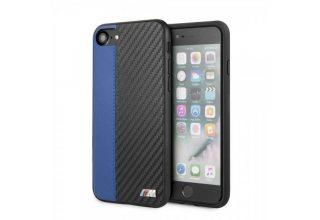 Чехол BMW для iPhone 7/8/SE2 Smooth/Carbon effect PU Hard Blue
