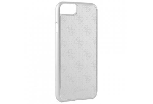 Чехол Guess для iPhone 7 4G Aluminium plate Hard Silver
