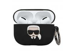 Чехол Lagerfeld для Airpods Pro Silicone case with ring Black