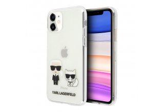 Чехол Lagerfeld для iPhone 11 PC/TPU collection Karl Iconik & Choupette Hard Transp