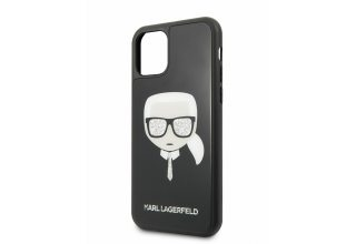 Чехол Lagerfeld для iPhone 11 Pro Double Layer Karl's Head Hard Glass Black