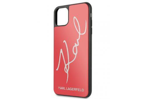 Чехол Lagerfeld для iPhone 11 Pro Max Double Layer Karl signature Hard Glass Red