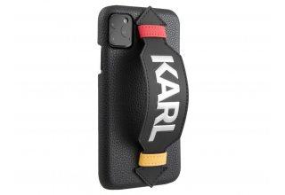 Чехол Lagerfeld для iPhone 11 Pro Max PU Leather with strap Karl logo Hard Black