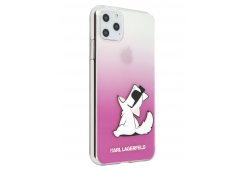 Чехол Lagerfeld для iPhone 11 Pro Max TPU/PC collection Choupette Fun Hard Gradient Transp