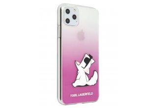 Чехол Lagerfeld для iPhone 11 Pro Max TPU/PC collection Choupette Fun Hard Gradient Transp