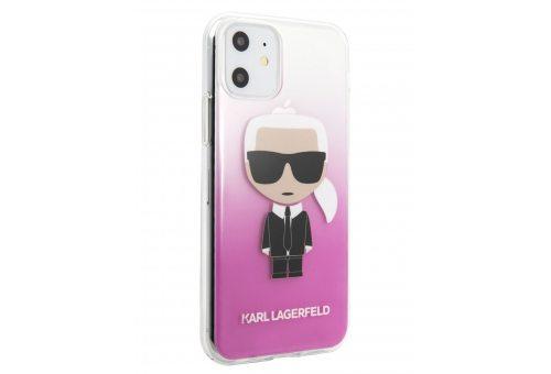 Чехол Lagerfeld для iPhone 11 Pro TPU/PC collection Karl Iconik Hard Gradient Pink