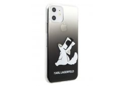 Чехол Lagerfeld для iPhone 11 TPU/PC collection Choupette Fun Hard Gradient Transp