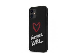 Чехол Lagerfeld для iPhone 12 mini (5.4) Liquid silicone Forever Karl Hard Black