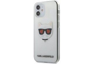 Чехол Lagerfeld для iPhone 12 mini (5.4) PC/TPU Choupette Head Hearts Hard Transp