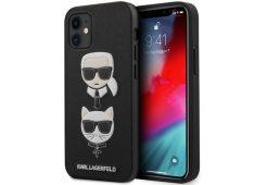 Чехол Lagerfeld для iPhone 12 mini (5.4) PU Saffiano Karl and Choupette Hard Black