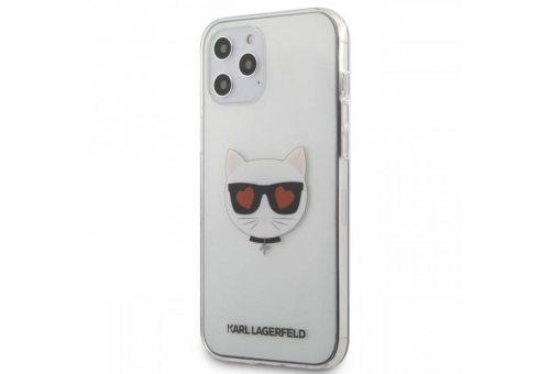 Чехол Lagerfeld для iPhone 12 Pro Max (6.7) PC/TPU Choupette Head Hearts Hard Transp