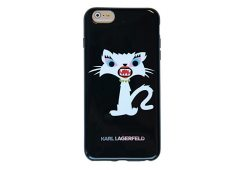 Чехол Lagerfeld для iPhone 6 Plus Monster Choupette Hard Black