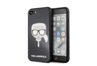 Чехол Lagerfeld для iPhone 7/8 Double layer Iconic Karl Hard Glitter Black