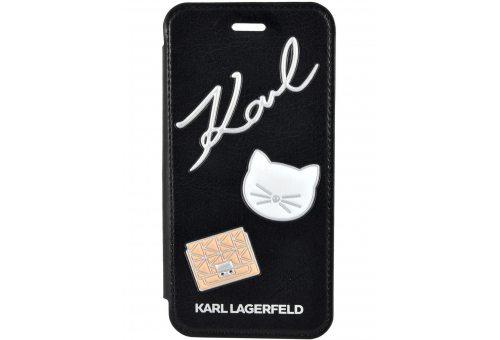 Чехол Lagerfeld для iPhone 7/8 Embossed Pins PU Black