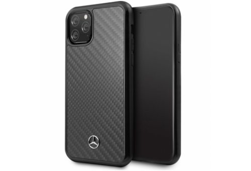 Чехол Mercedes для iPhone 11 Pro Dynamic Real carbon Hard Black