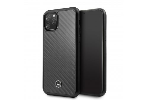 Чехол Mercedes для iPhone 11 Pro Max Dynamic Real carbon Hard Black