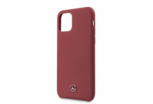 Чехол Mercedes для iPhone 11 Pro Max Silicone line Hard Red