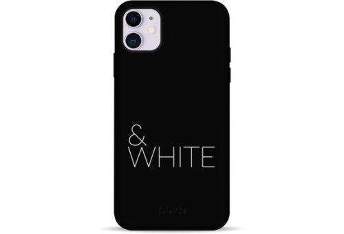 Чехол Pump Silicone Minimalistic Case for iPhone 11 Black&White